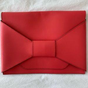Banana Republic Leather Envelope Clutch Pink